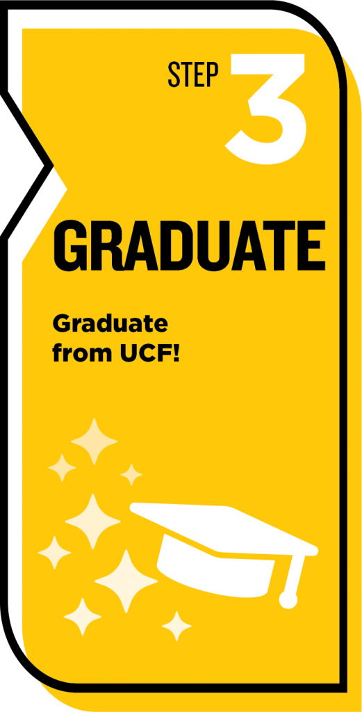 step 3 Graduate. graduate from UCF